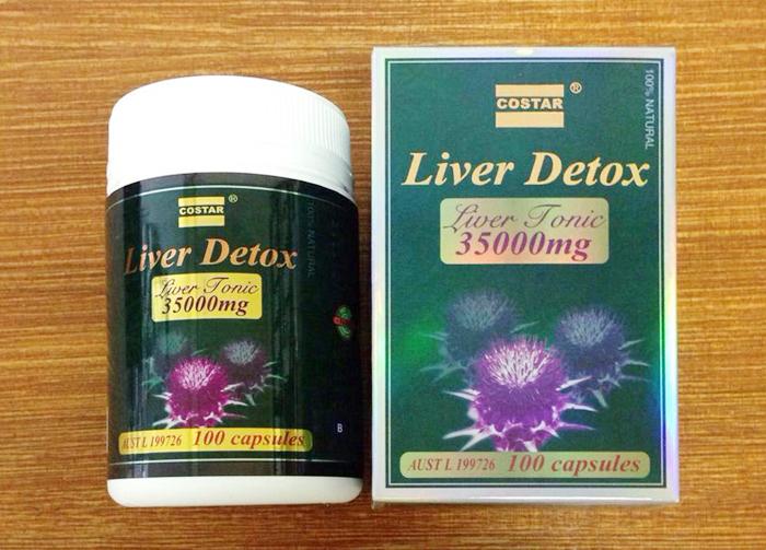 Giải độc gan từ viên uống Liver Detox Costar