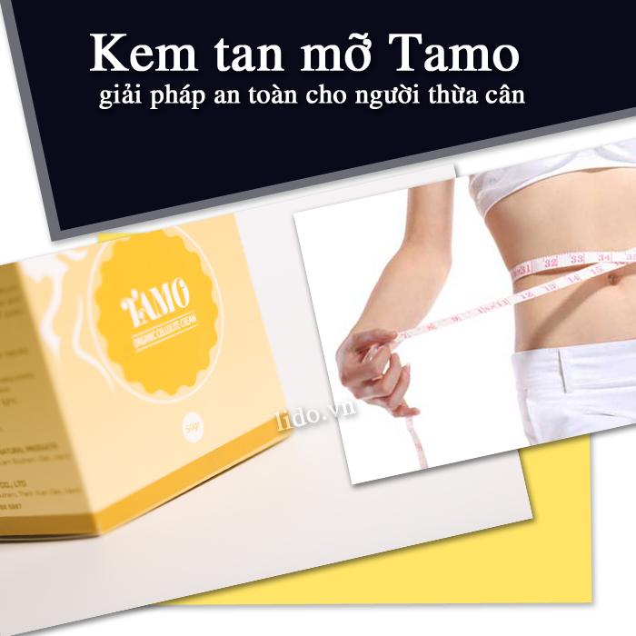Kem tan mỡ Tamo giải pháp an toàn cho người thừa cân béo phì