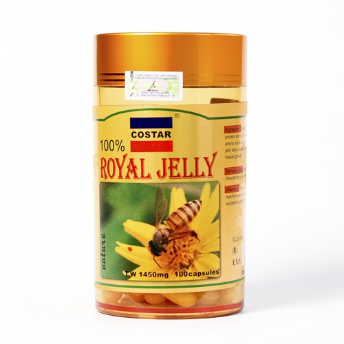 Sữa Ong Chúa Costar Royal Jelly Soft Gel Capsules 1450mg (100 viên)